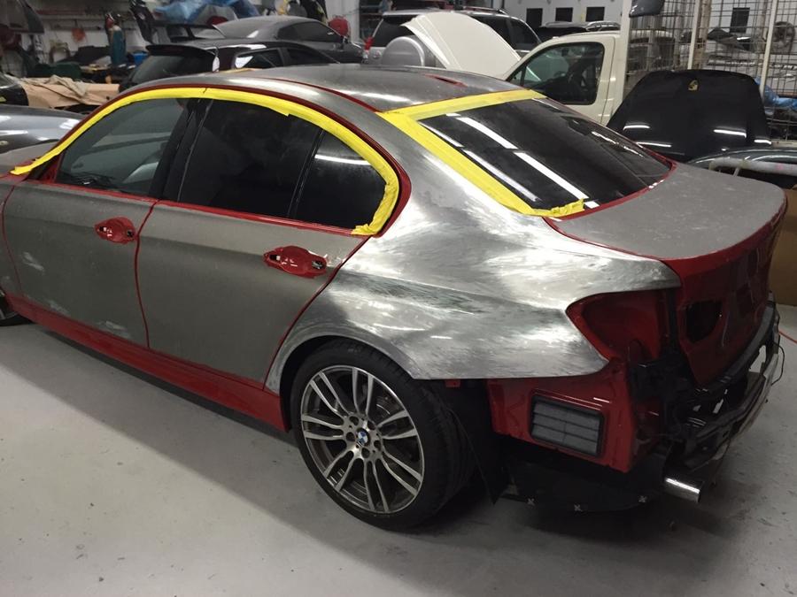 a car under repair